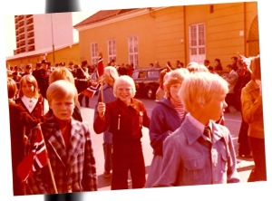 My brother, in the parade 1976